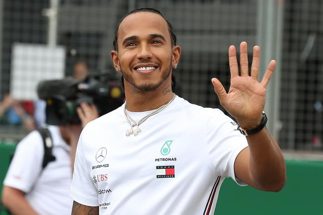 Five-time world champion Lewis Hamilton at Silverstone