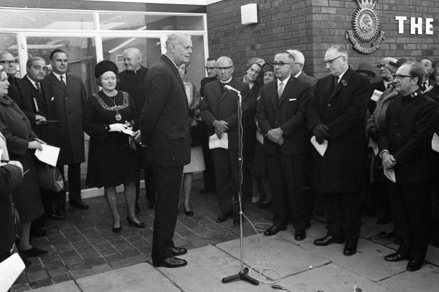 Salvation Army centre opening in Shirley - November 1969 013