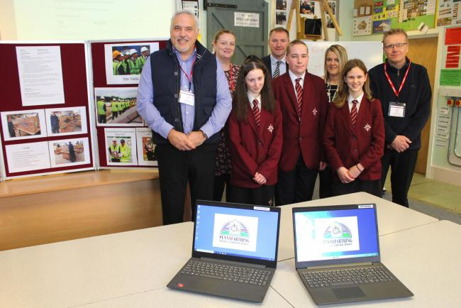 Pennyfarthing Homes has donated £500 to The Arnewood School to help purchase a new computer. The company resppnded to a fundraising drive from the school's PSA, which is aiming to raise £10,000 for a refurbished IT room and equipment. Pict