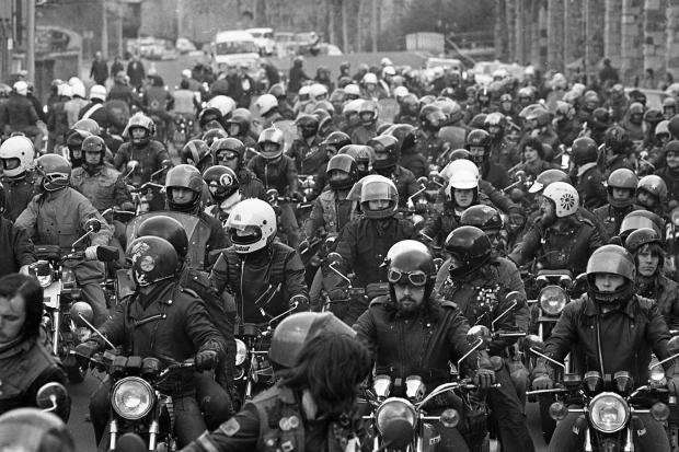 Motorcyclists helmet demo - March 29, 1980.