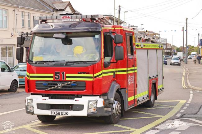 Firefighters were called to a blaze at a fishing tackle shop in New Milton.