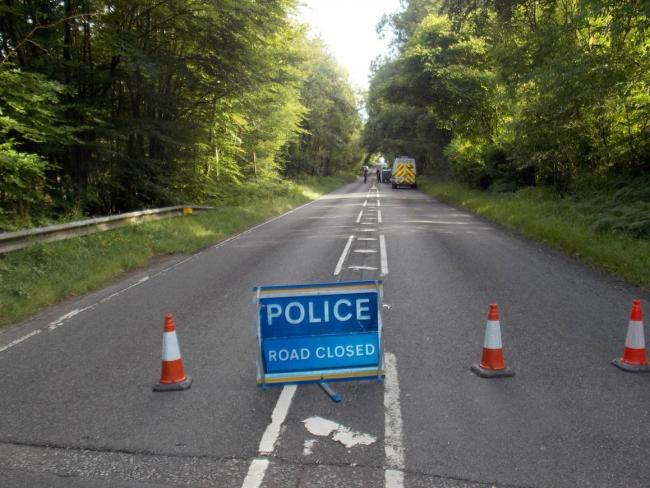 The A337 Romsey Road was closed following a two-vehicle crash on Tuesday, June 16. Picture: Simon Rowley