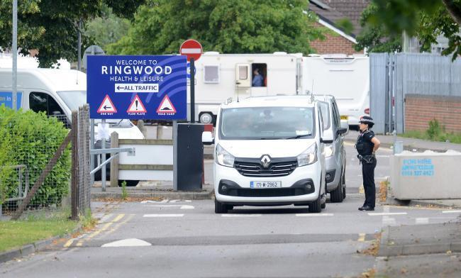 Police at Ringwood Health and Leisure Centre. Picture: Roger Arbon/ Solent News & Photo Agency