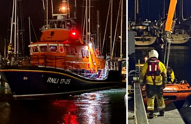 Yarmouth RNLI was among those called to the rescue of seven people.