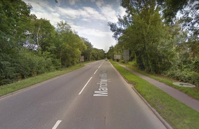 The acckident has occurred on the A326 between the Rushington roundabout and Jacobs Gutter Lane. Picture: Google.