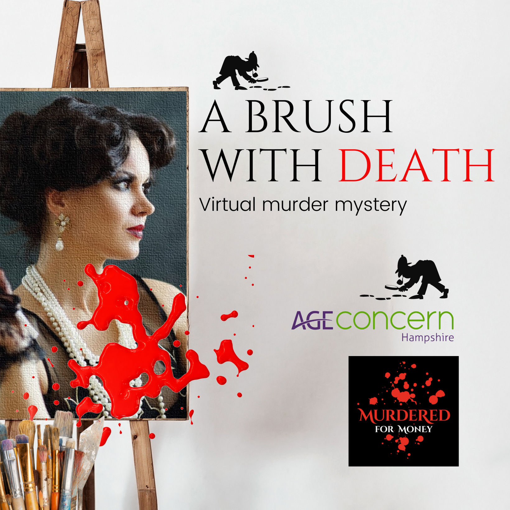 A Brush with Death - A Virtual Murder Mystery Challenge