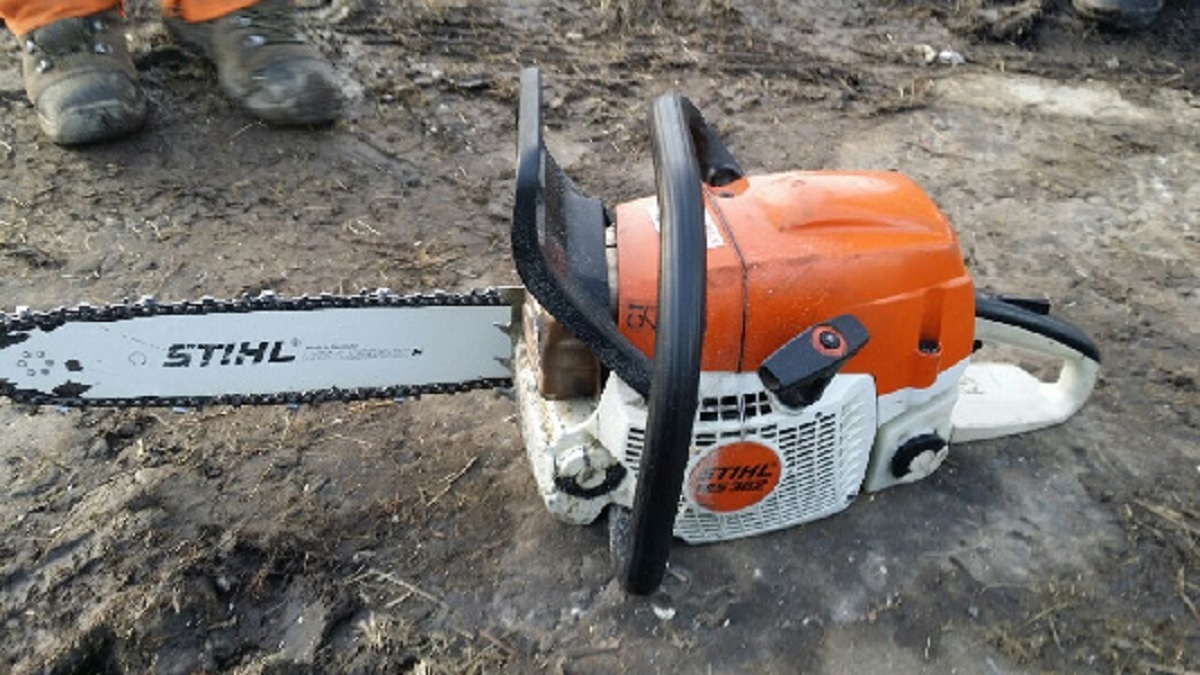 One of the chainsaws that was stolen from the van at Chain Bar roundabout