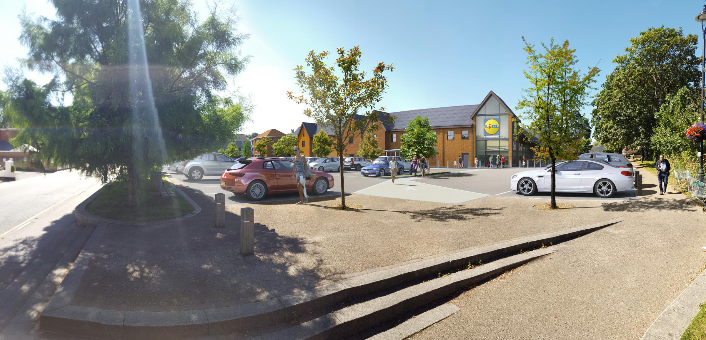An artist's impression of the Lidl in Hythe.