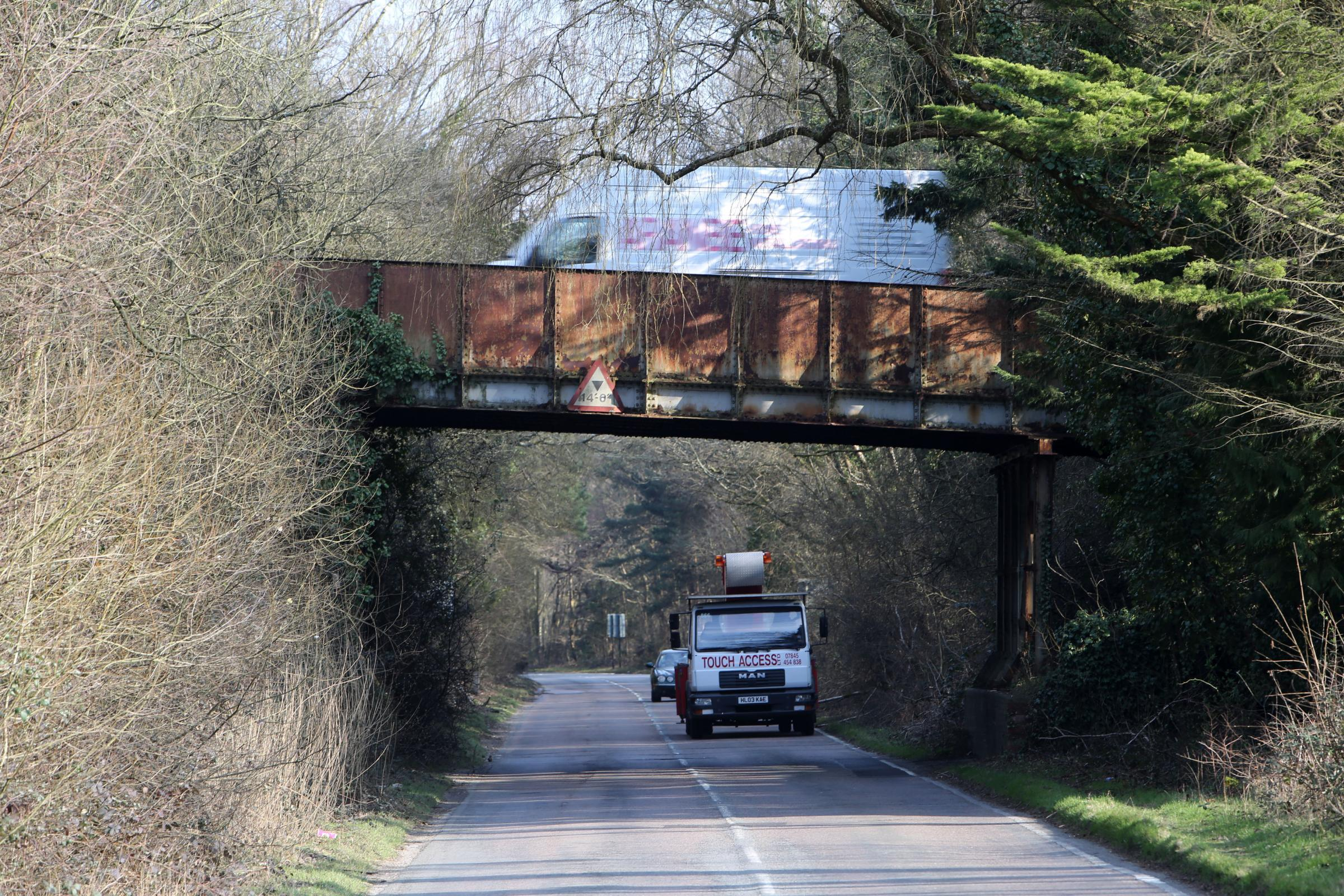 The bridge on the A35 at Holmsley is to be replaced.