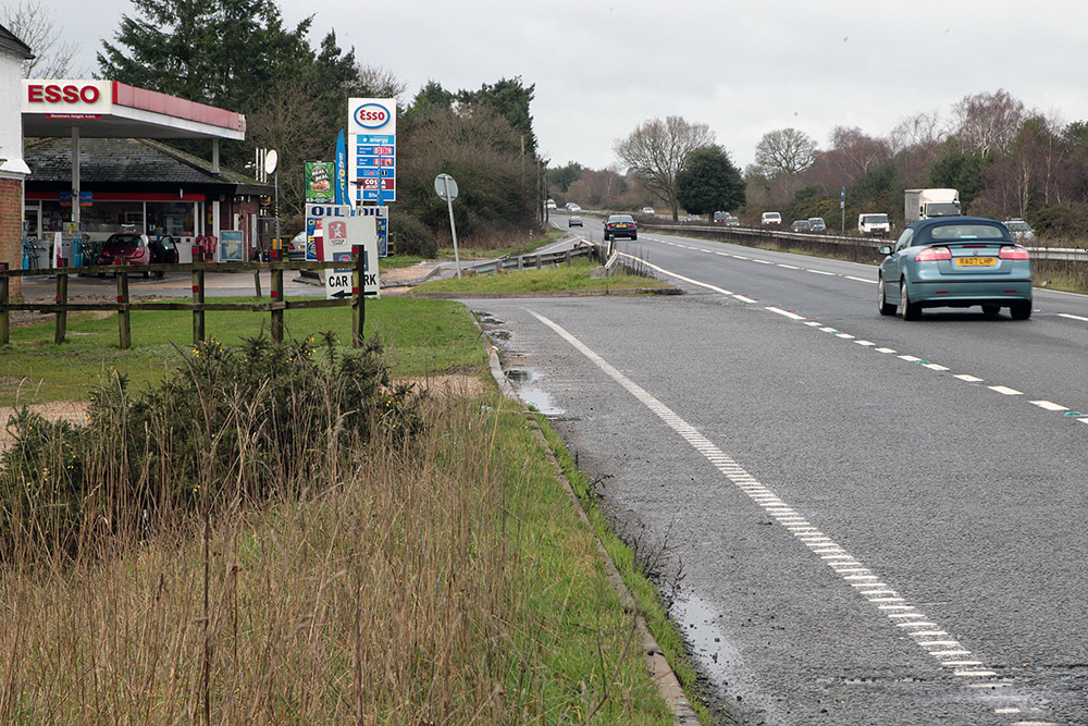 Rufus Stone service station on the A31 westbound