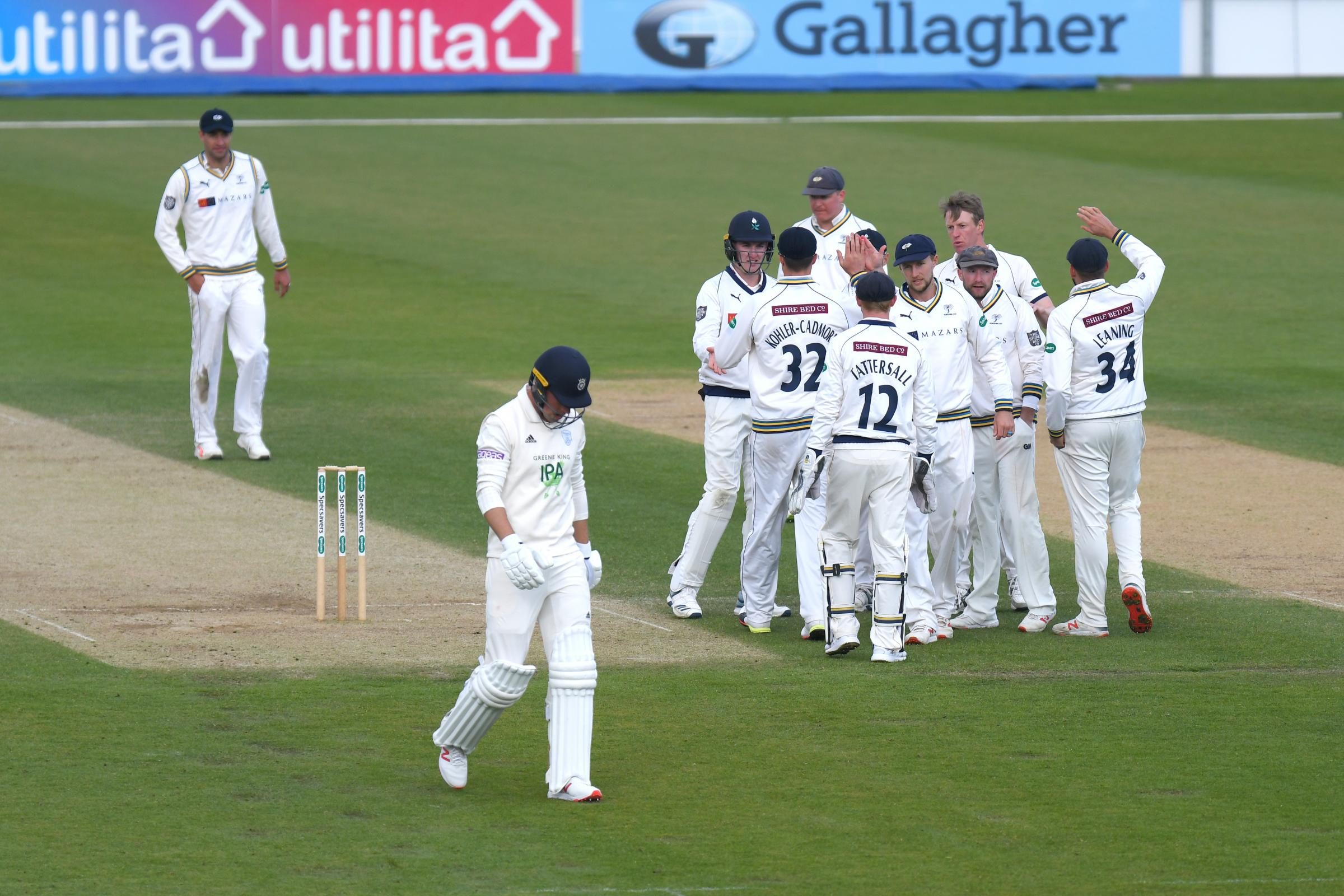 Joe Weatherley's dismissal precipitated Hampshire's second-innings collapse (Photo by Neil Marshall)