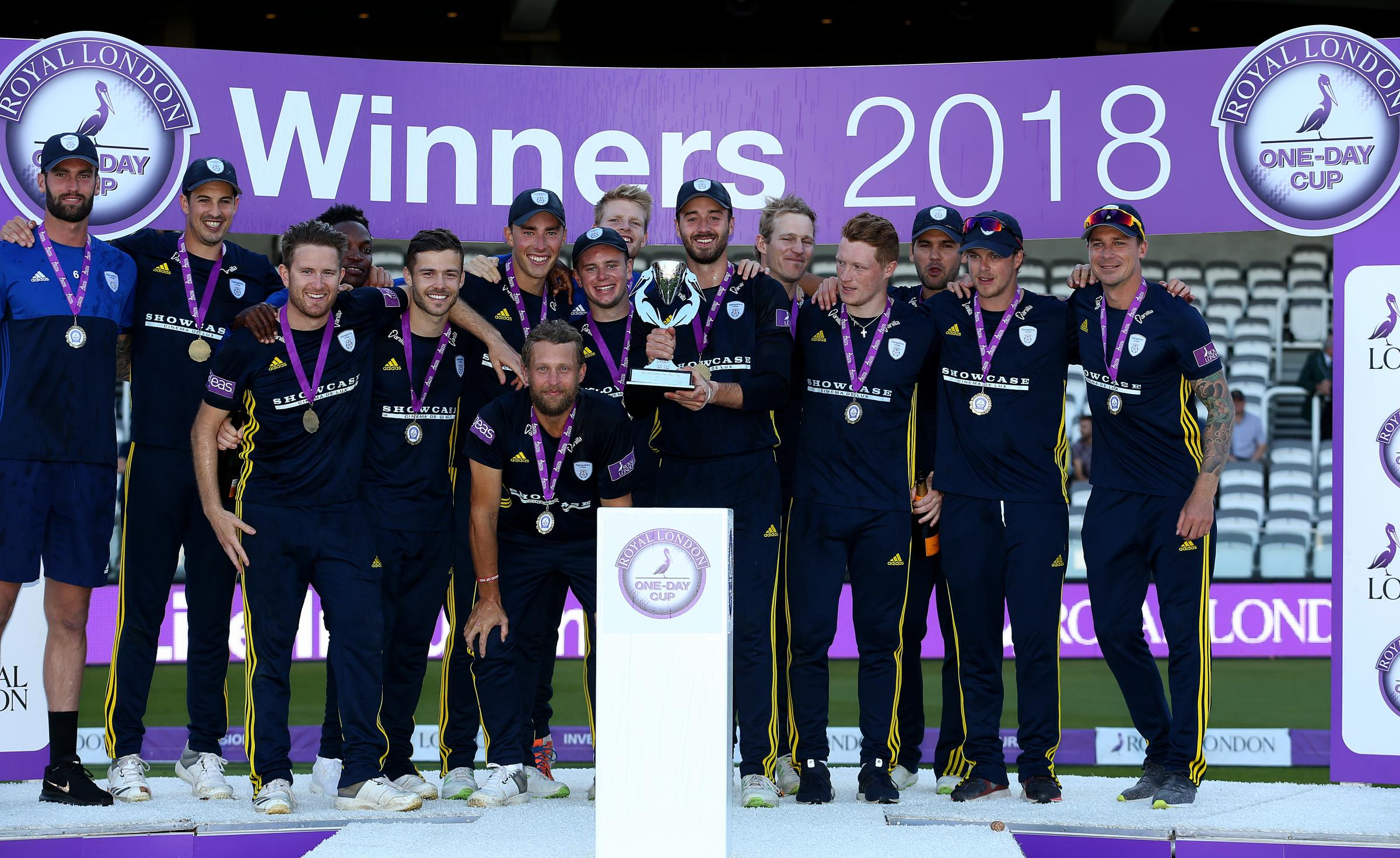 Hampshire celebrate last year's Royal London One-Day Cup triumph