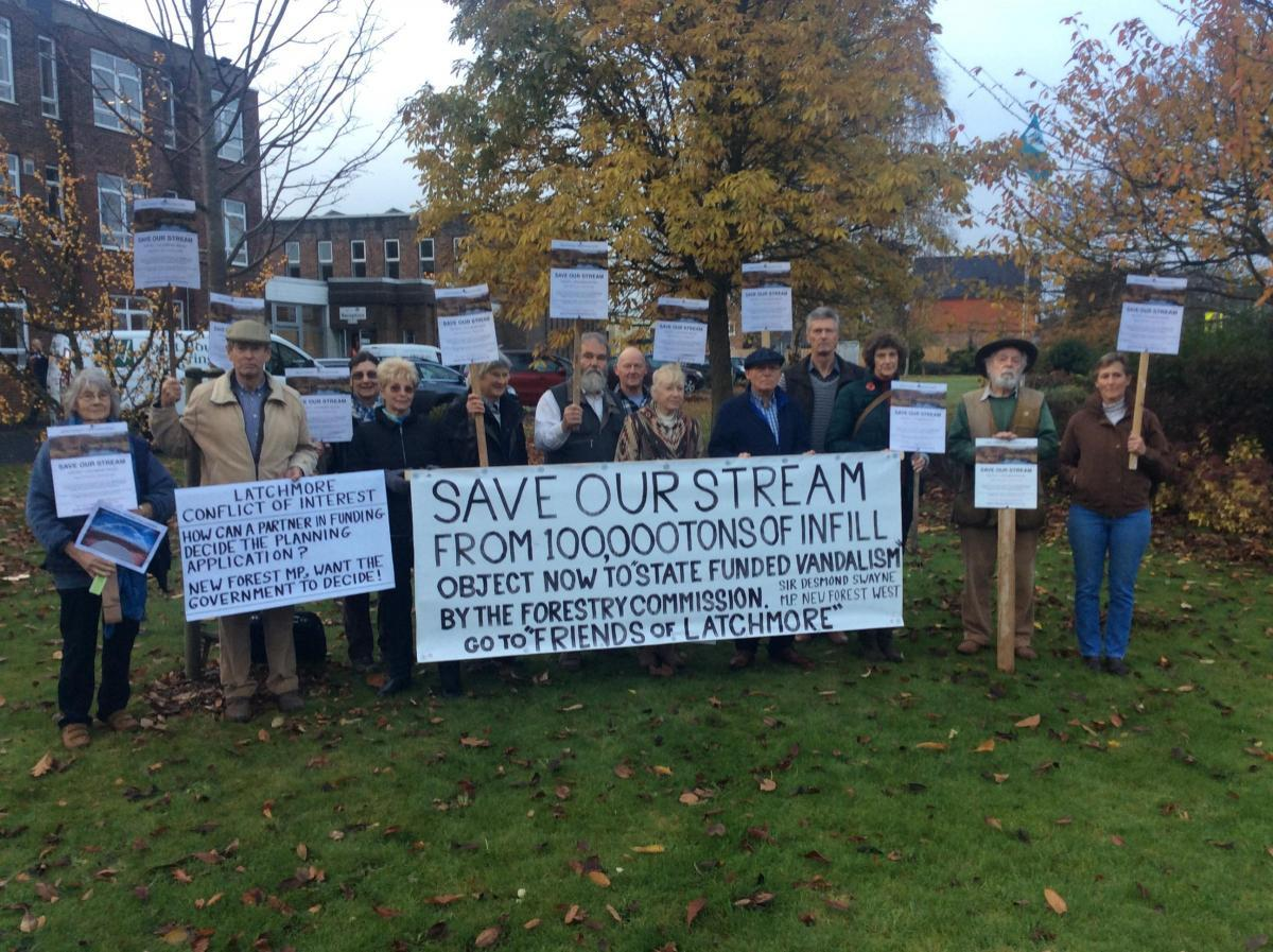 Planning permission for a scheme involving Latchmore Brook was scrapped after protests.
